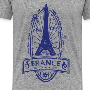France stamp art T-Shirts - Men's Premium T-Shirt