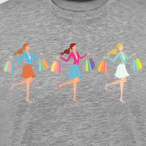 Tall shopping girl with b T-Shirts - Men's Premium T-Shirt