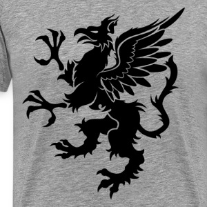 Griffin dragon art T-Shirts - Men's Premium T-Shirt
