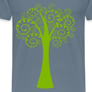 Green spiral tree T-Shirts - Men's Premium T-Shirt