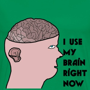 I use my brain T-shirt  - Men's Premium T-Shirt