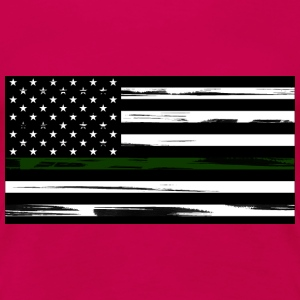 Military US Flag with Green Stripe - Women's Premi - Women's Premium T-Shirt