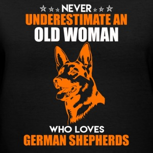 Loves German Shepherds - Women's V-Neck T-Shirt