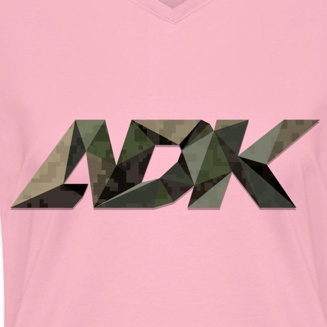 Camo Poly ADK - Womens V-Neck