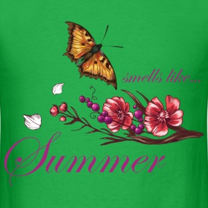 smells_like_summer_butterfly_05201602 T-Shirts - Men's T-Shirt