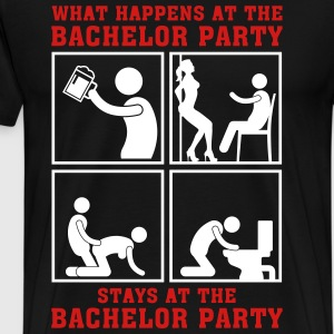 what_happens_at_the_bachelor_party_05201 T-Shirts - Men's Premium T-Shirt