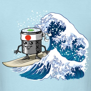 Sushi surfing - Men's T-Shirt