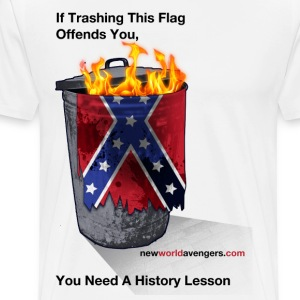 Trash the Confederate Rag T-Shirts - Men's Premium T-Shirt