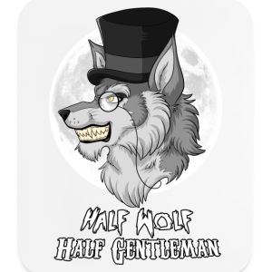 Half-Wolf Half-Gentleman Other - Mouse pad Vertical