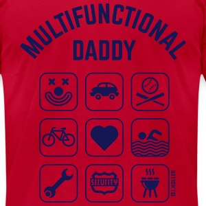 Multifunctional Daddy (9 Icons) T-Shirts - Men's T-Shirt by American Apparel