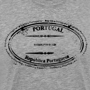 Portugal stamp art - Men's Premium T-Shirt