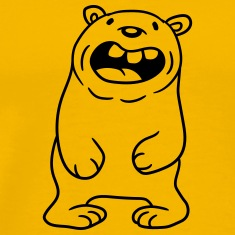 funny comic cartoon bear fat grin laughing dick bi T-Shirts
