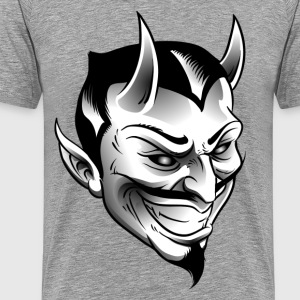 Smiling devil with horns - Men's Premium T-Shirt