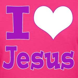 I Heart Jesus (I Love Jesus) - Women's T-Shirt