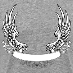 Scrolled wings design T-Shirts