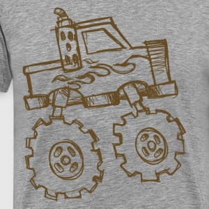 Truck with big wheels T-Shirts - Men's Premium T-Shirt