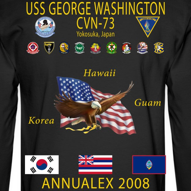 USS GEORGE WASHINGTON 2008 CRUISE SHIRT - ANNUALEX 08 - LONG SLEEVE