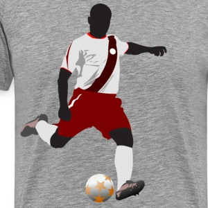 Football player playing soccer in euro cup T-Shirts - Men's Premium T-Shirt