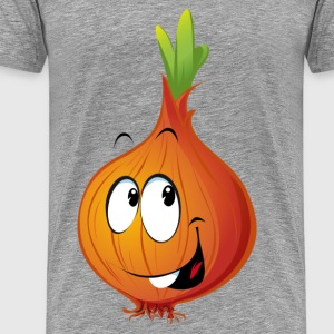 Orange onion smiling T-Shirts - Men's Premium T-Shirt