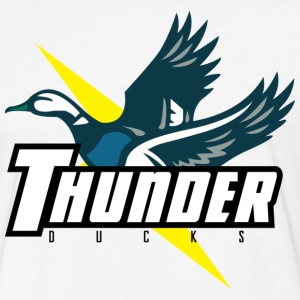 Thunder Ducks T Shirt - Fitted Cotton/Poly T-Shirt by Next Level