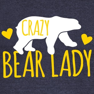 Crazy Bear Lady Long Sleeve Shirts - Women's Wideneck Sweatshirt