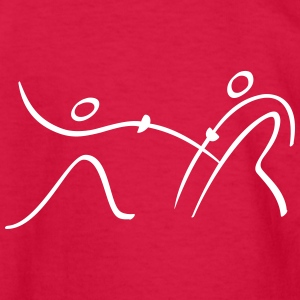 Fencing Pictogram Kids' Shirts - Kids' Long Sleeve T-Shirt