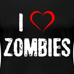 I Love Zombies Women's T-Shirts