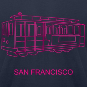 San Francisco Cable Car T-Shirts - Men's T-Shirt by American Apparel