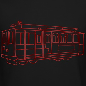 San Francisco Cable Car Long Sleeve Shirts - Crewneck Sweatshirt