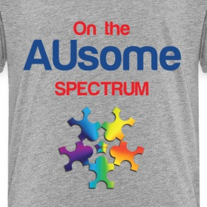 On the AUsome Spectrum Heather Grey Tshirt - Toddler Premium T-Shirt