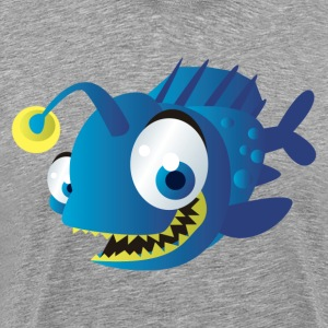 Angler scary fish with light T-Shirts - Men's Premium T-Shirt