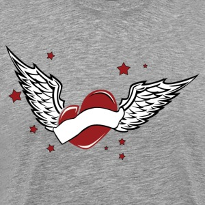Love heart with wings - Men's Premium T-Shirt