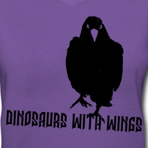 Dinosaurs with Wings by Thea Boodhon Women's T - Women's V-Neck T-Shirt