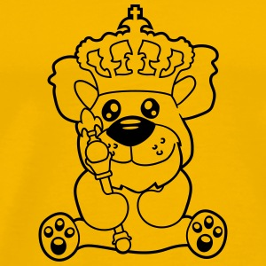 king crown old opa scepter sitting Teddy comic car T-Shirts - Men's Premium T-Shirt