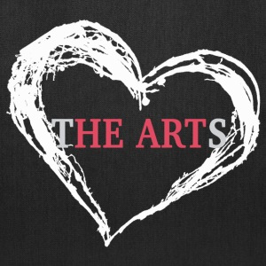 I Heart The Arts Black Tote - Tote Bag