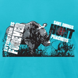 Hunt Poachers Save Rhinos design T-Shirts - Men's T-Shirt by American Apparel