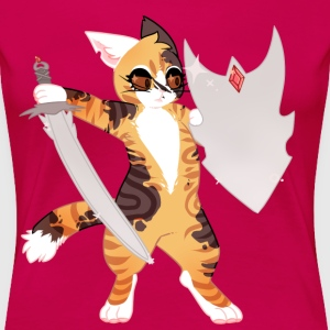 Feline Warrior - Women's Premium T-Shirt