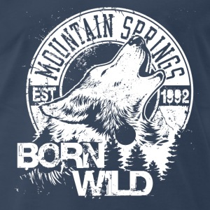 Born Wild-white - Men's Premium T-Shirt