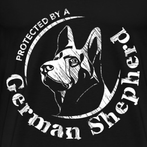 Protected by a German Shepherd - Men's Premium T-Shirt
