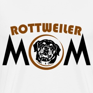 Rottweiler mom - Men's Premium T-Shirt