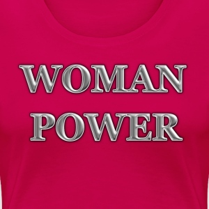 WOMAN-POWER Women's T-Shirts - Women's Premium T-Shirt