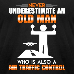 Old Man Air Traffic Control - Men's T-Shirt by American Apparel