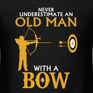 Old Man With Bow Shirt - Men's T-Shirt
