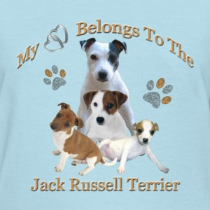 My Hearts Belongs To the Jack Russell Terrier - Women's T-Shirt