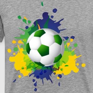 Football rainbow background T-Shirts - Men's Premium T-Shirt