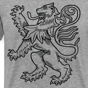 Griffin line art T-Shirts - Men's Premium T-Shirt