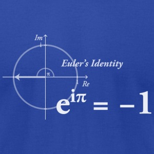 Euler's Identity Formula - Men's T-Shirt by American Apparel