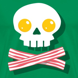 Breakfast Skull T-Shirts - Men's Premium T-Shirt