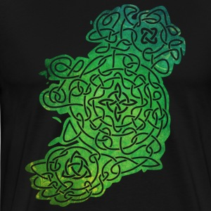 Celtic Map of Ireland T-Shirts - Men's Premium T-Shirt