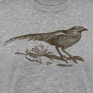 Long tail bird silhouette - Men's Premium T-Shirt